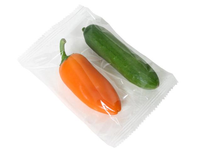 Zapakowane warzywa