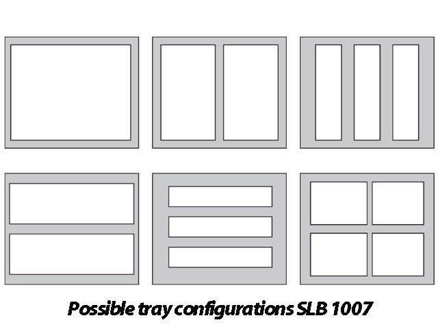 Różne konfiguracje tacek dla SLB 1007